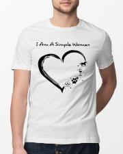 I Am A Simple Flip Flops Dog Wine Horse Classic T-Shirt lifestyle-mens-crewneck-front-13