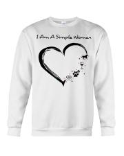I Am A Simple Flip Flops Dog Wine Horse Crewneck Sweatshirt thumbnail