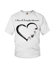 I Am A Simple Flip Flops Dog Wine Horse Youth T-Shirt thumbnail
