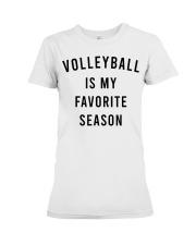 Volleyball Is My Favorite Season Premium Fit Ladies Tee thumbnail