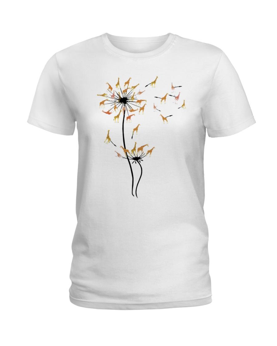 Dandelion Giraffe Ladies T-Shirt