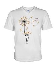 Dandelion Giraffe V-Neck T-Shirt thumbnail