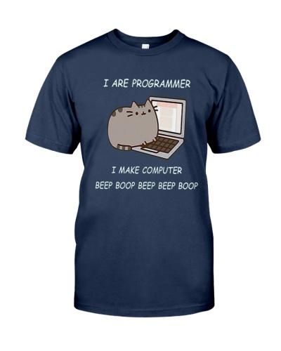 I ARE PROGRAMMER I MAKE COMPUTER BEEP BOOP T-Shirt
