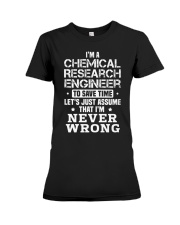 Chemical Research Engineer Premium Fit Ladies Tee thumbnail