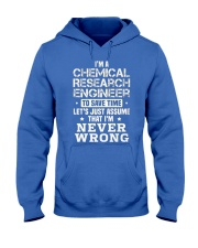 Chemical Research Engineer Hooded Sweatshirt front