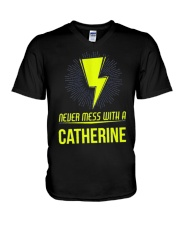 Catherine Never Mess With A Catherine V-Neck T-Shirt thumbnail