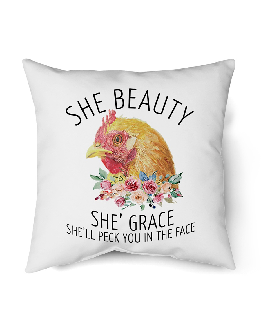 "She's Beauty She's Grace Indoor Pillow - 16"" x 16"""