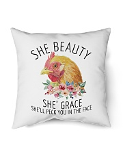 "She's Beauty She's Grace Indoor Pillow - 16"" x 16"" front"