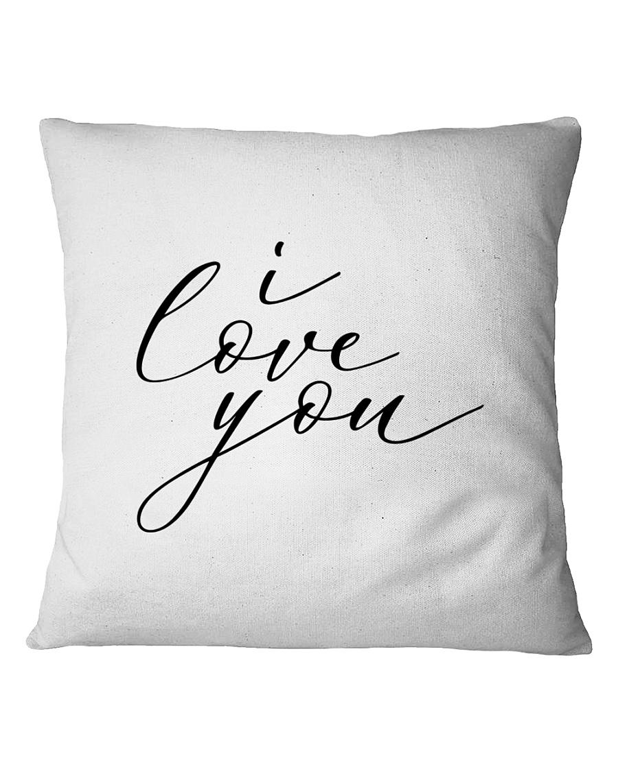 I Love You Pillow Cover Square Pillowcase