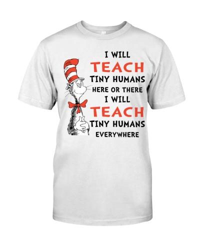 TEACHER FUNNY QUOTE - TEACH TINY HUMANS