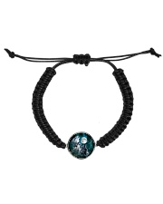 Three Wolves Howling At The Moon All Over T-Shirt Cord Circle Bracelet front