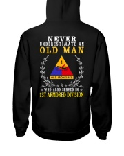 1st Armored Division Hooded Sweatshirt back