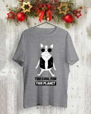 Pug Too cool for this planet shirt Classic T-Shirt lifestyle-holiday-crewneck-front-2