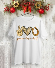 Peace love hoof shirt Classic T-Shirt lifestyle-holiday-crewneck-front-2