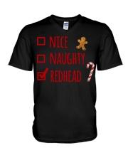 Nice Naughty Redhead Christmas sweater V-Neck T-Shirt thumbnail
