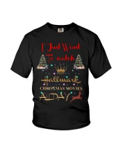 I just want to watch Hallmark Christmas shirt Youth T-Shirt thumbnail