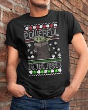 Powerful is the asset Christmas Baby Yoda shirt Classic T-Shirt apparel-classic-tshirt-lifestyle-26