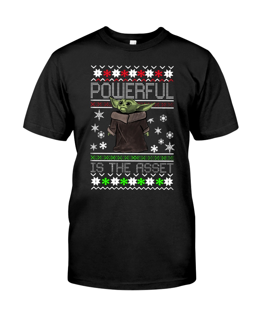 Powerful is the asset Christmas Baby Yoda shirt Classic T-Shirt