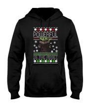 Powerful is the asset Christmas Baby Yoda shirt Hooded Sweatshirt thumbnail