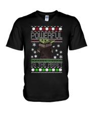 Powerful is the asset Christmas Baby Yoda shirt V-Neck T-Shirt thumbnail