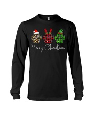 Dog Paws Merry Christmas shirt Long Sleeve Tee tile
