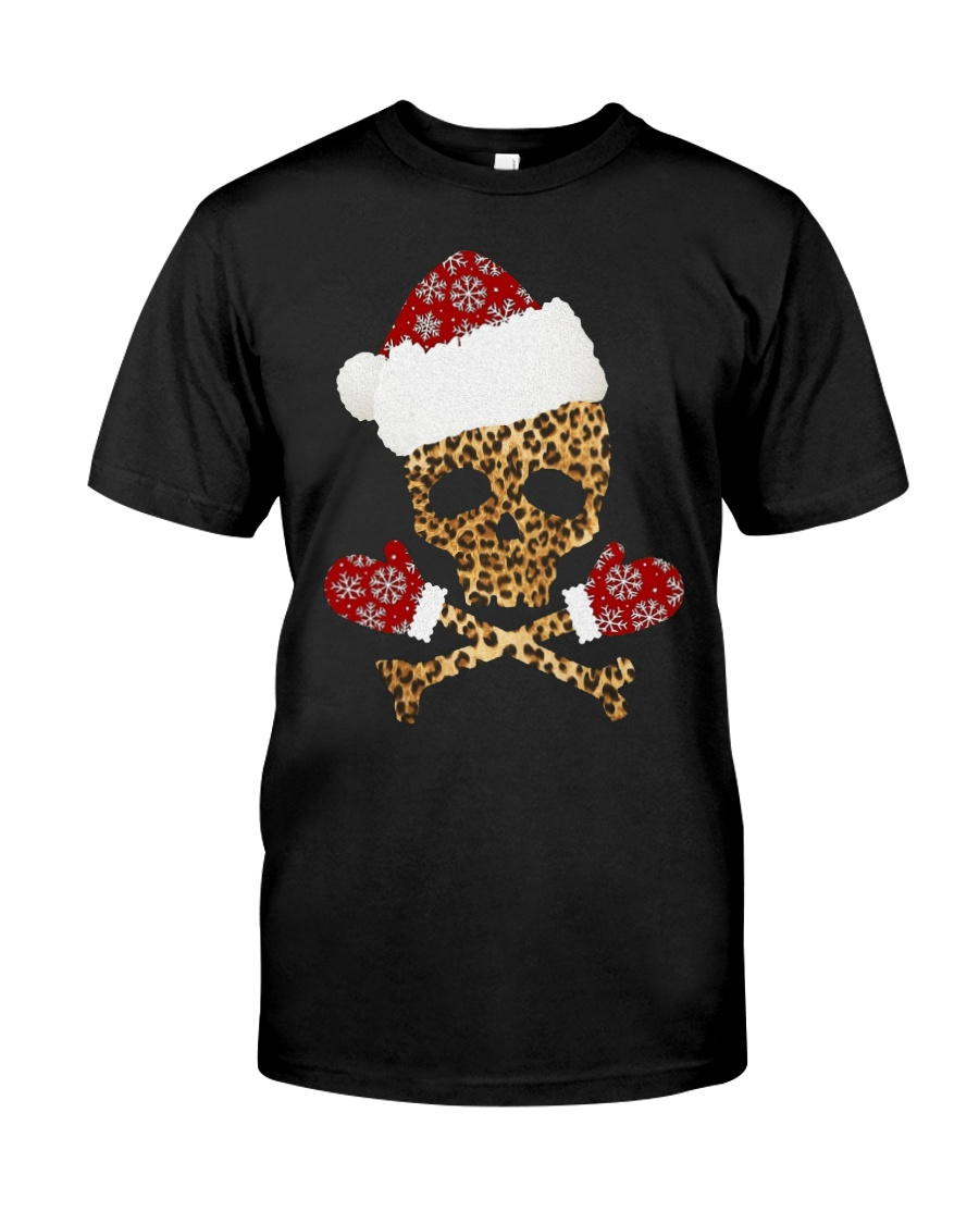 Skull Leopard Santa Claus Christmas shirt Classic T-Shirt