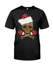 Skull Leopard Santa Claus Christmas shirt Classic T-Shirt front