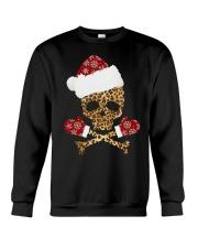 Skull Leopard Santa Claus Christmas shirt Crewneck Sweatshirt thumbnail