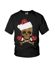 Skull Leopard Santa Claus Christmas shirt Youth T-Shirt thumbnail