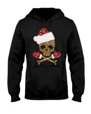 Skull Leopard Santa Claus Christmas shirt Hooded Sweatshirt thumbnail