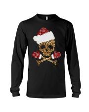 Skull Leopard Santa Claus Christmas shirt Long Sleeve Tee thumbnail