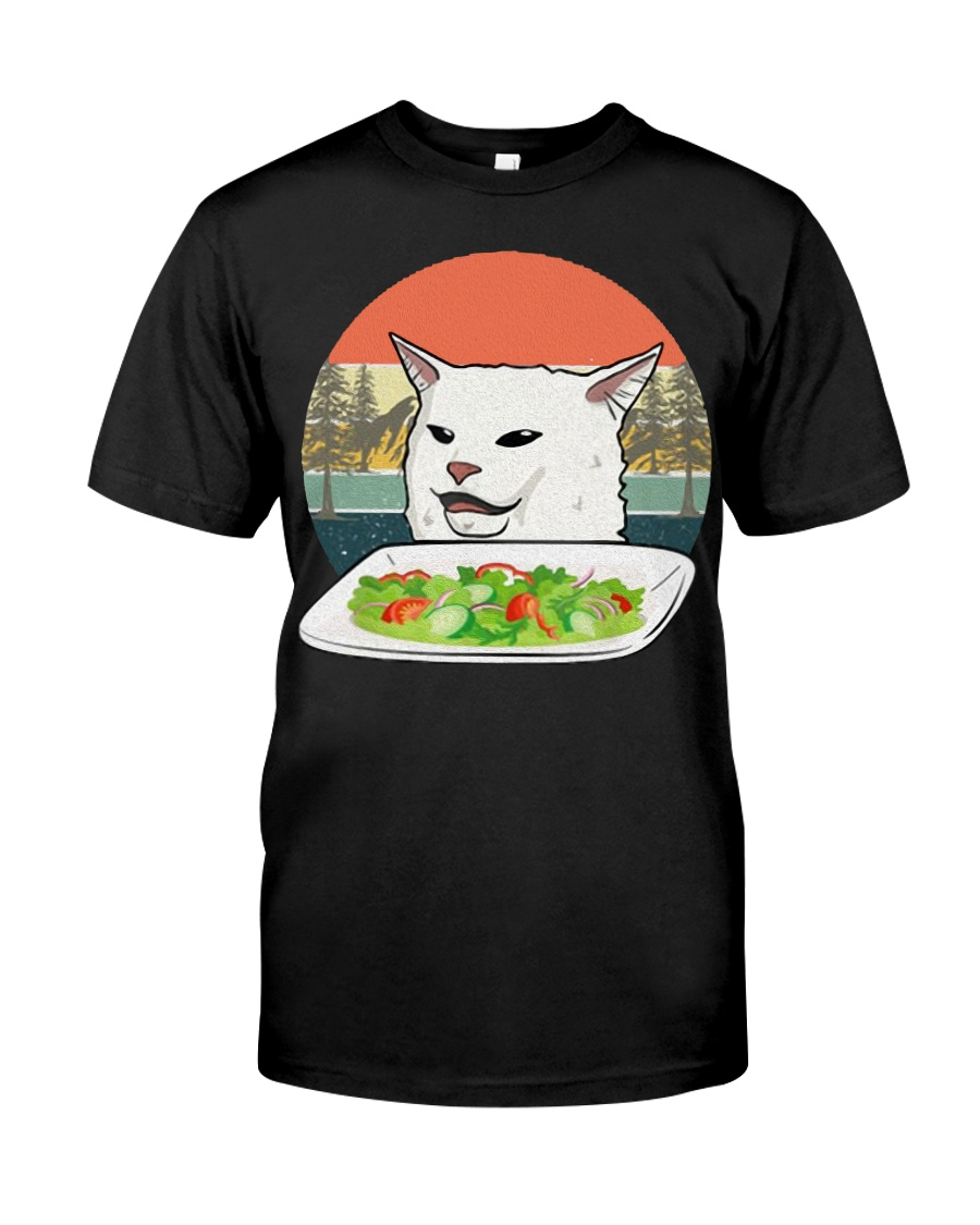 Cat eat salad shirt Classic T-Shirt