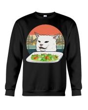 Cat eat salad shirt Crewneck Sweatshirt thumbnail