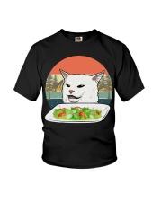 Cat eat salad shirt Youth T-Shirt thumbnail