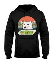 Cat eat salad shirt Hooded Sweatshirt thumbnail