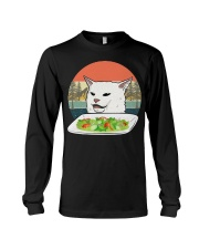 Cat eat salad shirt Long Sleeve Tee thumbnail