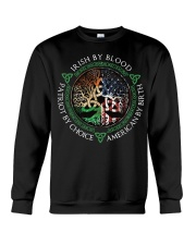 Irish by blood patriot by choice American Tree Crewneck Sweatshirt thumbnail
