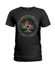 Irish by blood patriot by choice American Tree Ladies T-Shirt thumbnail