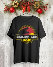 Dragon's Lair Jurassic Park shirt Classic T-Shirt lifestyle-holiday-crewneck-front-2