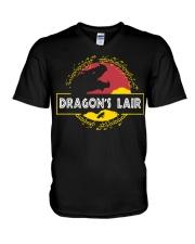 Dragon's Lair Jurassic Park shirt V-Neck T-Shirt thumbnail