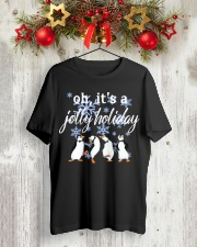 Penguin Oh it's a Jolly Holiday Christmas shirt Classic T-Shirt lifestyle-holiday-crewneck-front-2