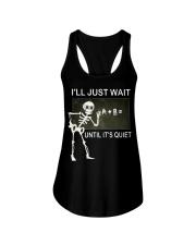 Skeleton I'll just wait until it's quiet shirt Ladies Flowy Tank thumbnail