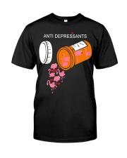 Antidepressants Flamingos shirt Classic T-Shirt front