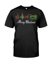 Sewing quilting Wine Merry Christmas shirt Classic T-Shirt front