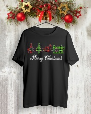 Sewing quilting Wine Merry Christmas shirt Classic T-Shirt lifestyle-holiday-crewneck-front-2