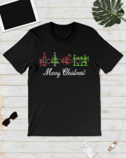 Sewing quilting Wine Merry Christmas shirt Classic T-Shirt lifestyle-mens-crewneck-front-17