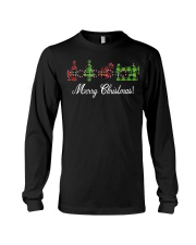 Sewing quilting Wine Merry Christmas shirt Long Sleeve Tee thumbnail