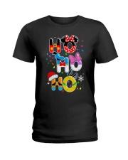 Ho Ho Ho Mickey Disney Christmas shirt Ladies T-Shirt thumbnail