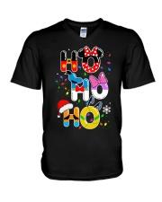Ho Ho Ho Mickey Disney Christmas shirt V-Neck T-Shirt thumbnail