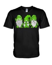 Hanging With Green Gnomies Sweatshirt V-Neck T-Shirt thumbnail
